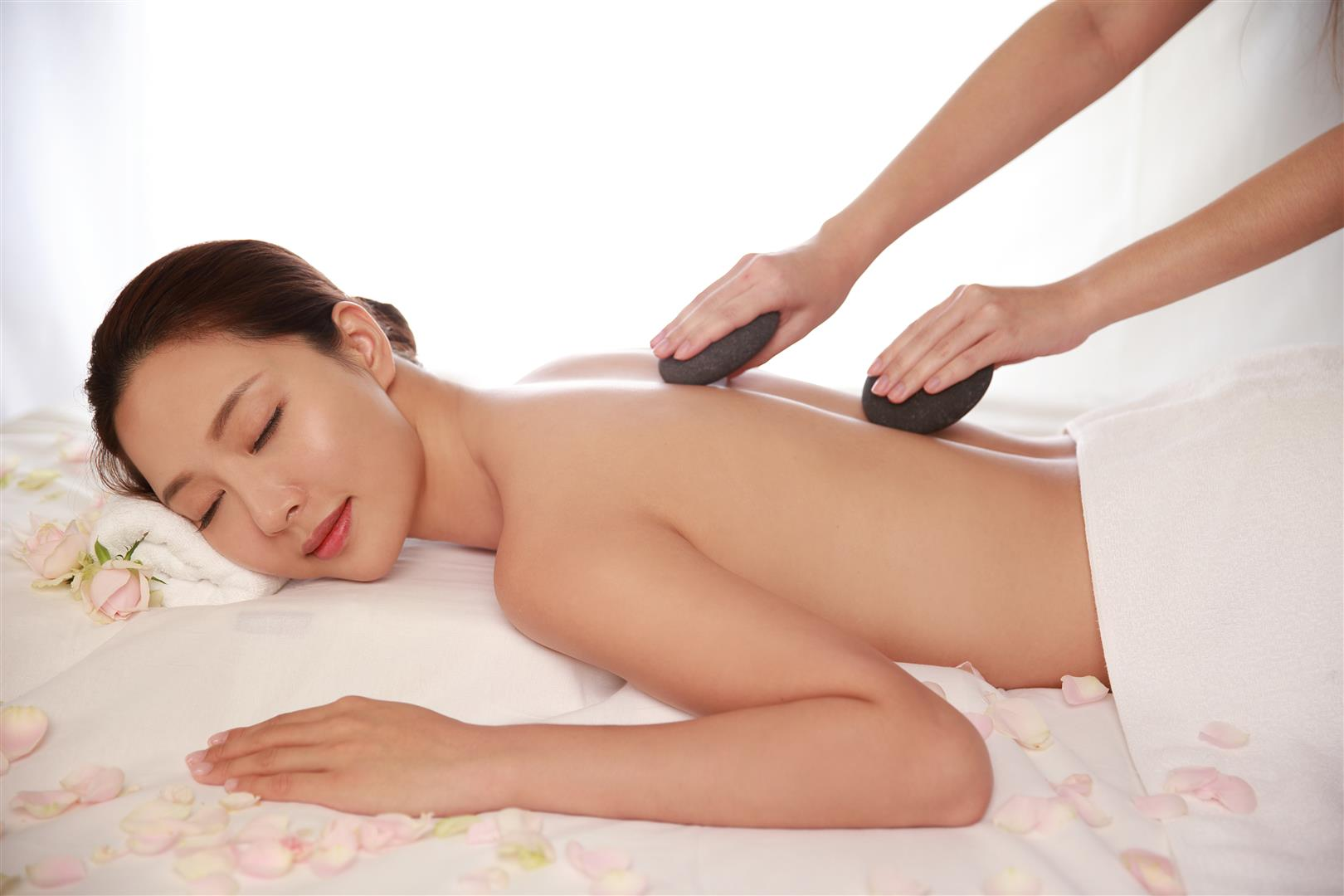 Relaxing massage in cold winter